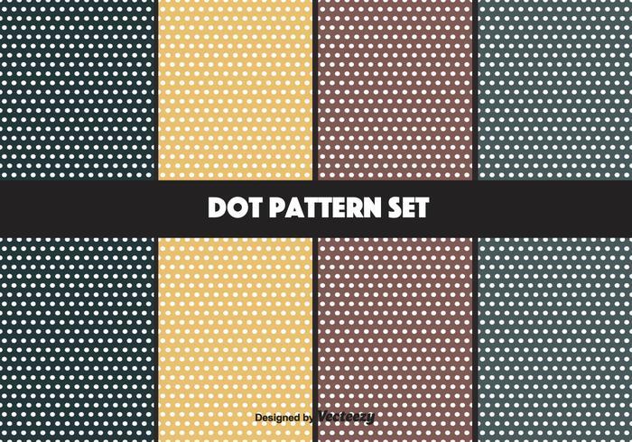 Navy en mosterd vector dot patroon set