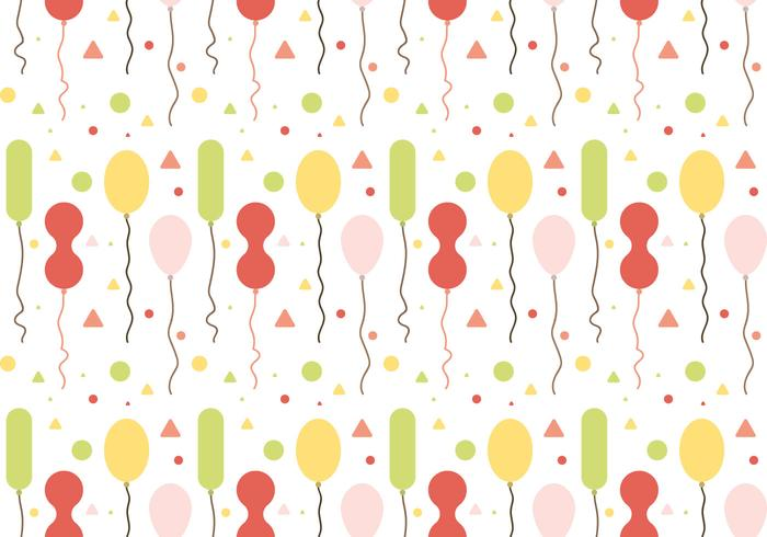 Free Balloons Pattern Vector #1