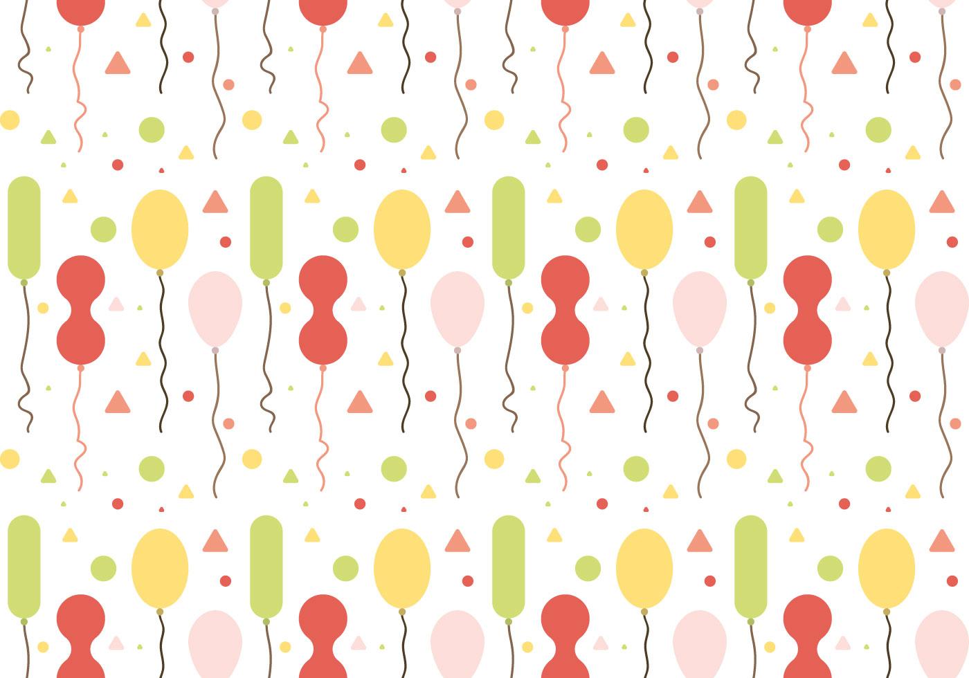 Free Balloons Pattern Vector #1