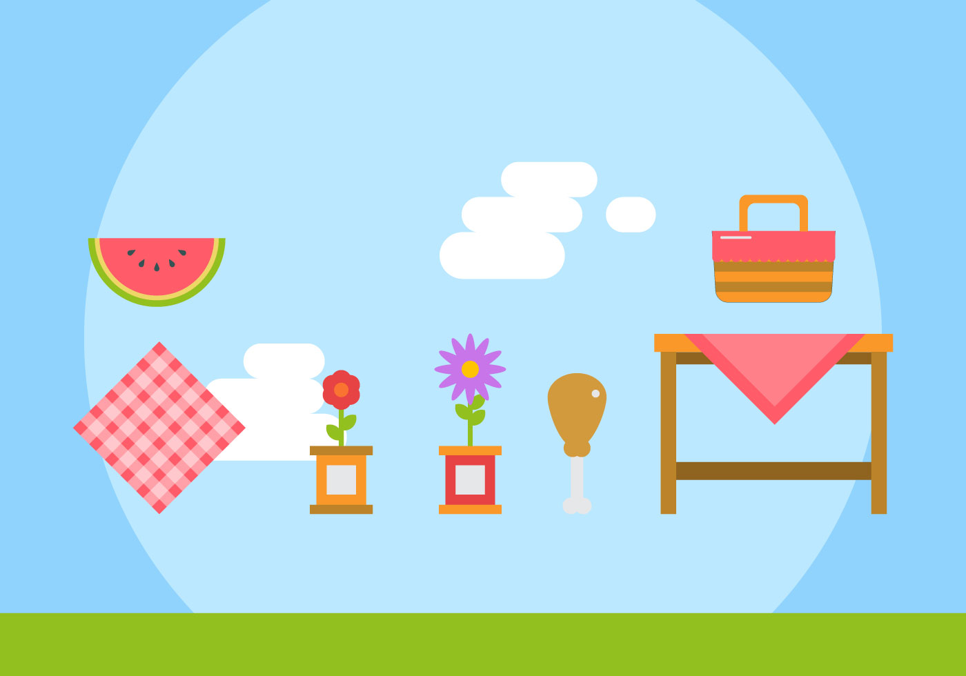 Free Family Picnic Vector Illustrations #3 - Download Free Vector Art ...
