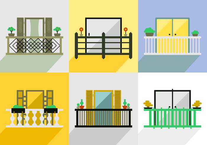 Free Balcony Vector Pack