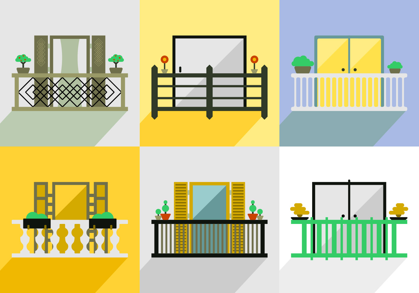 Balcony Vector Pack Download Free Vector Art Stock