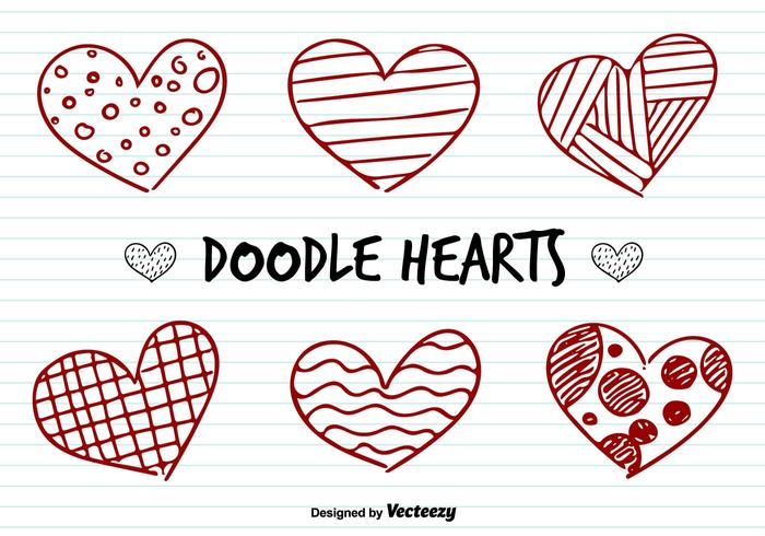 Love Hearts Doodle Vectors