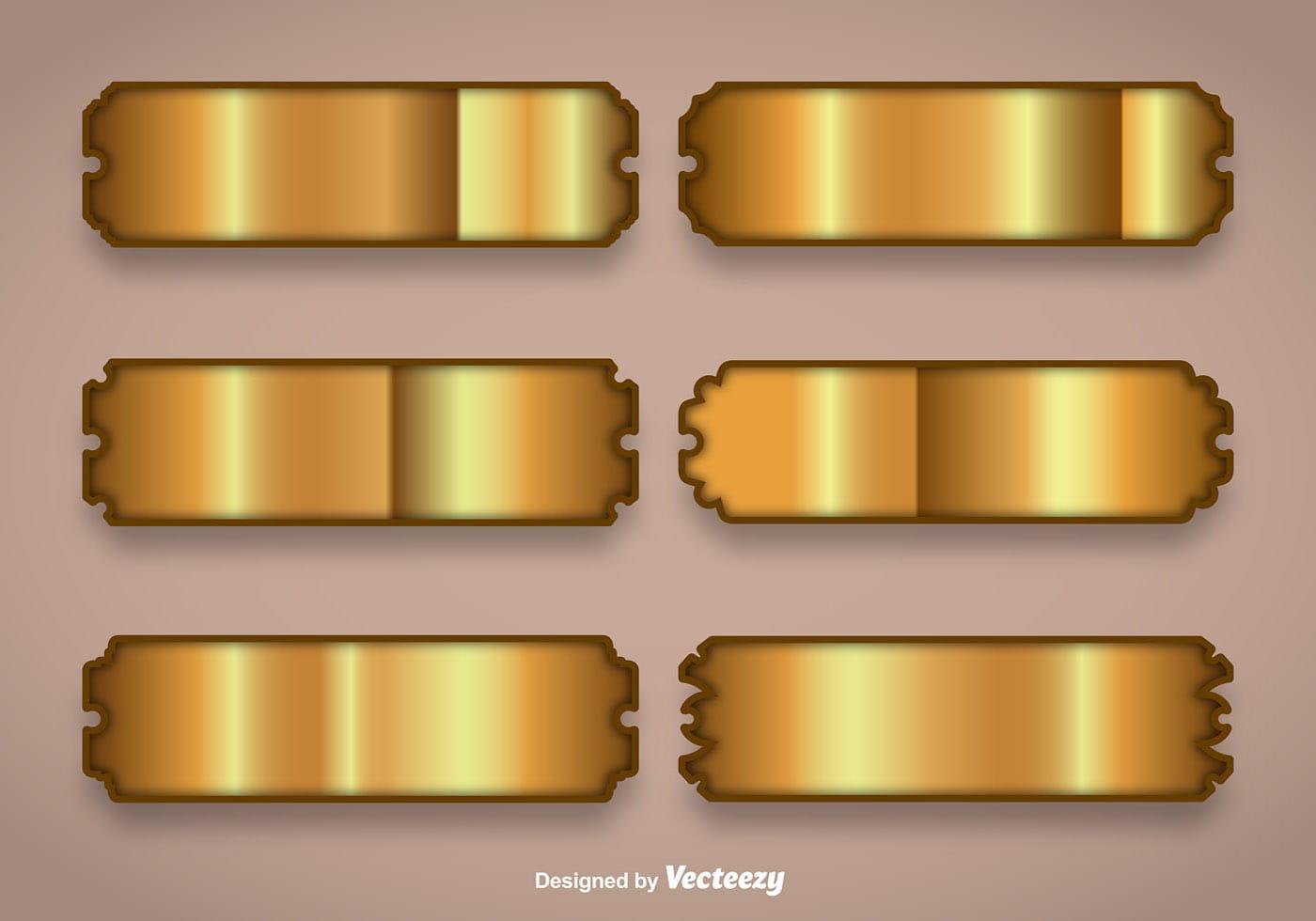 Shiny Gold Name Plate Vectors Download Free Vector Art