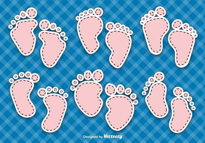 Baby Footprints Vectors