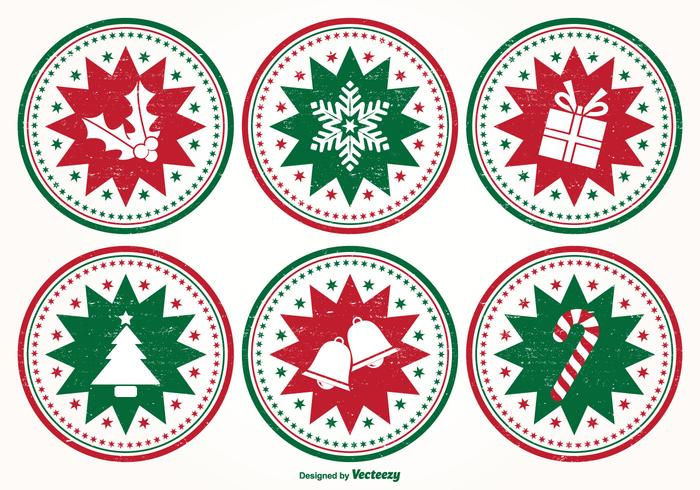 Distressed Style Christmas Stamp Set
