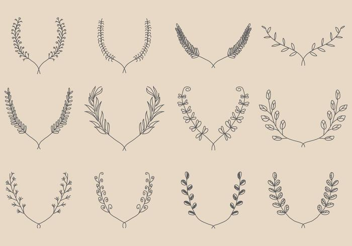 Hand Made Wreath Vectors