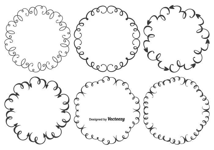 Cute Doodle Frames Set Download Free Vectors Clipart