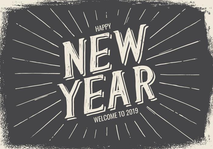 Neujahr Typografisches Label Set