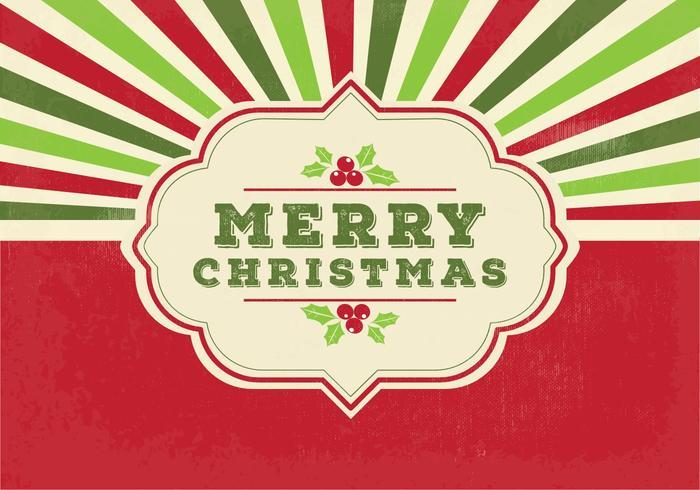 Ejemplo retro de la Feliz Navidad