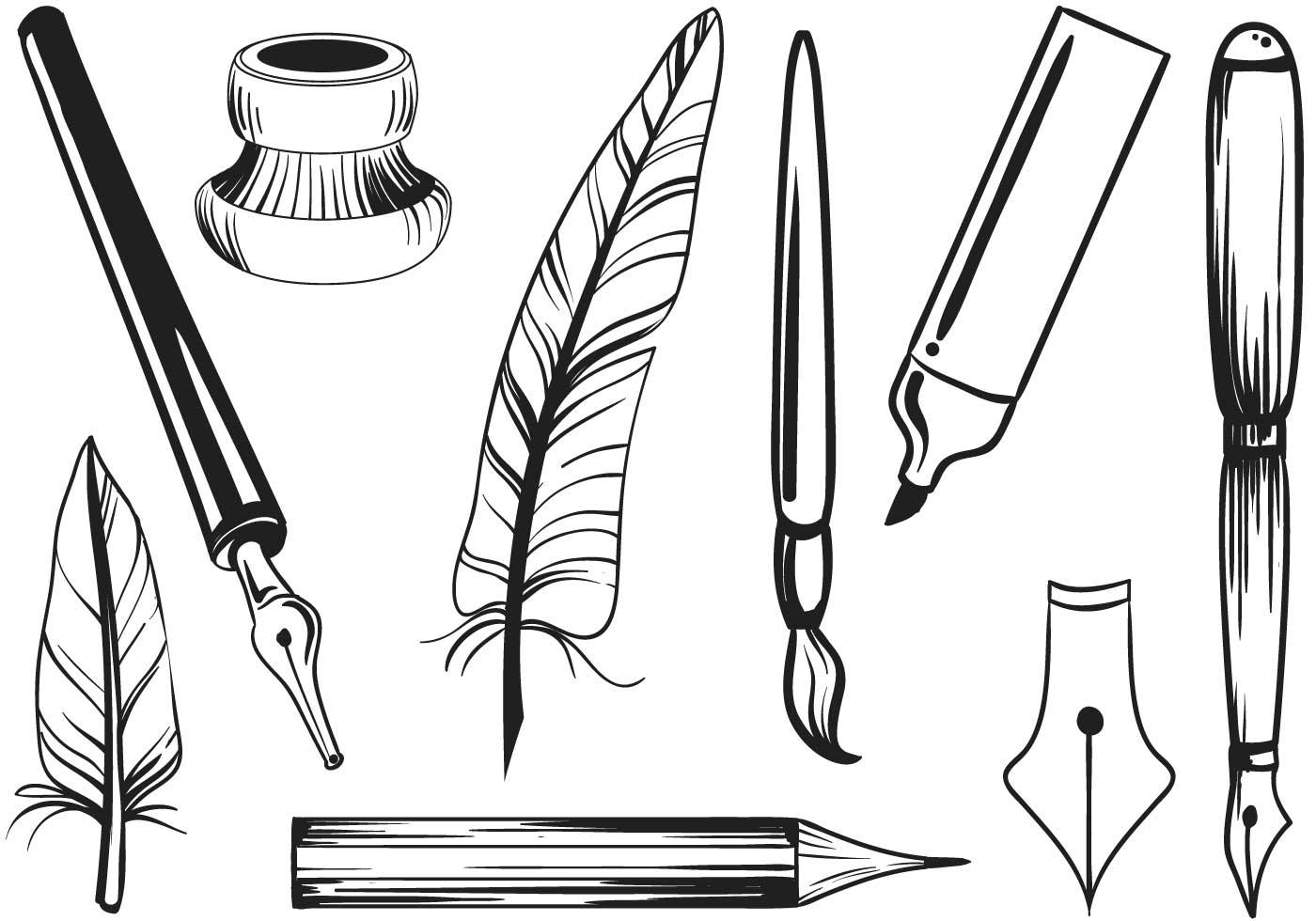 free writing vectors download free vector art stock