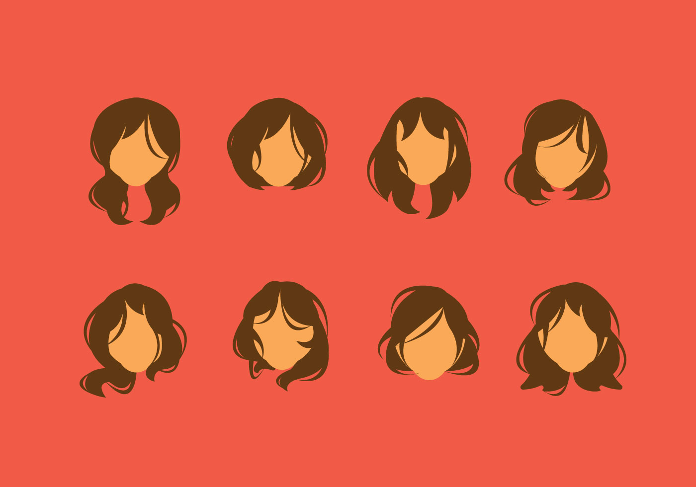 Hairstyle Vector: Curly Hair Free Vector Art