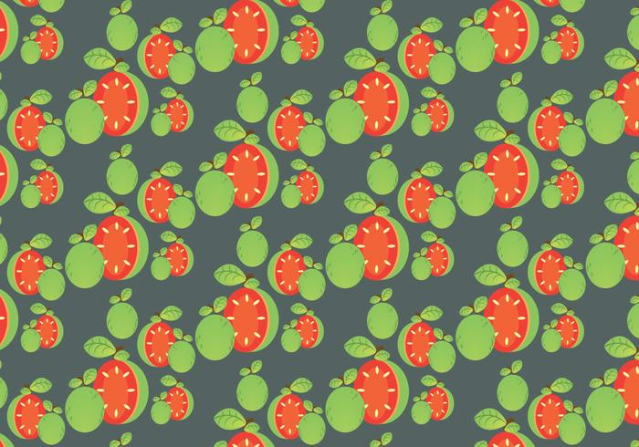 Free Guava Pattern and Leaf Vector