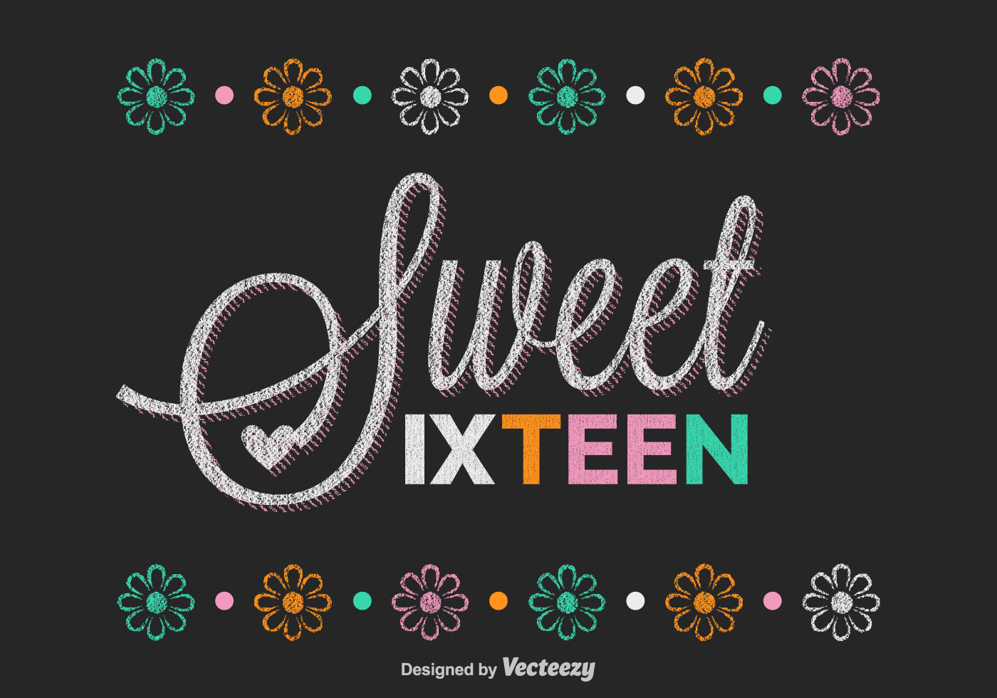 Free Sweet Sixteen Lettering Vector - Download Free Vector ...