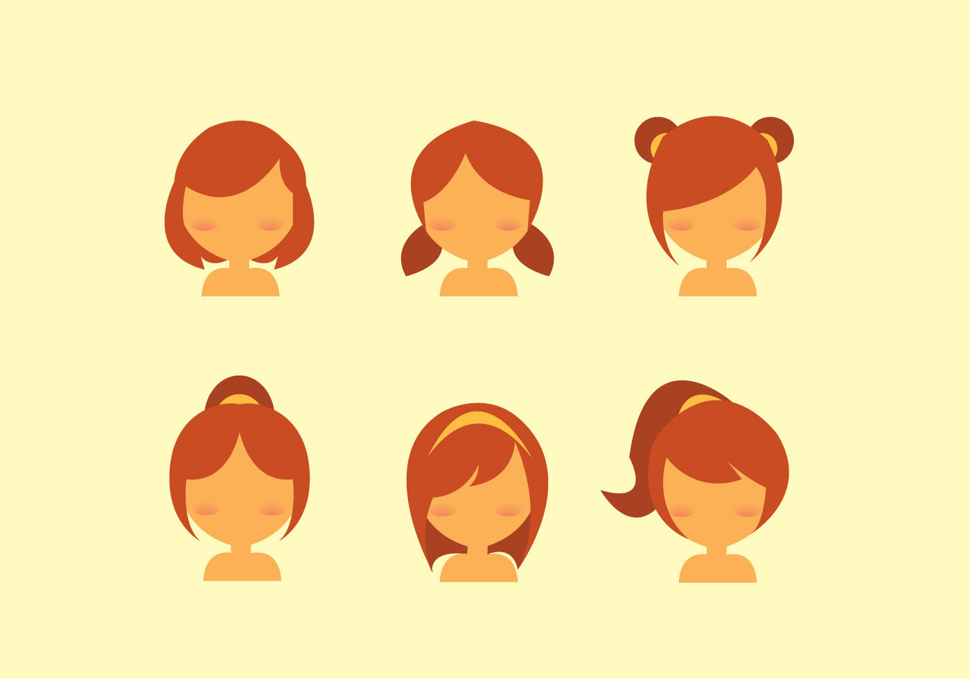 Hairstyle Vector: (1057 Free Downloads