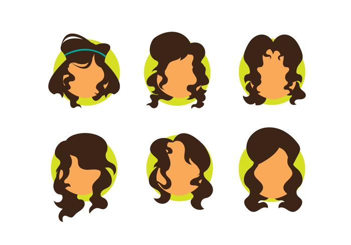 Free Girl Curly Hair Vector