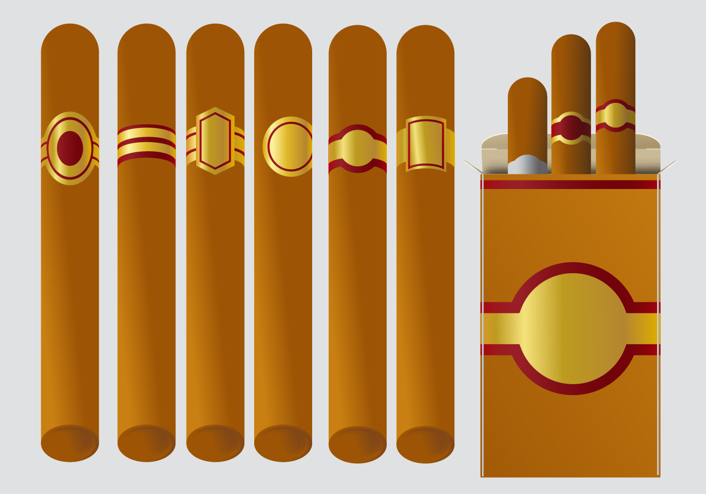 cigar label vectors download free vector art stock