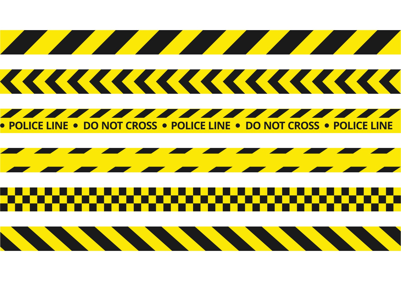 free police line vector download free vector art  stock Caution Tape Frame Solid Tape Vector