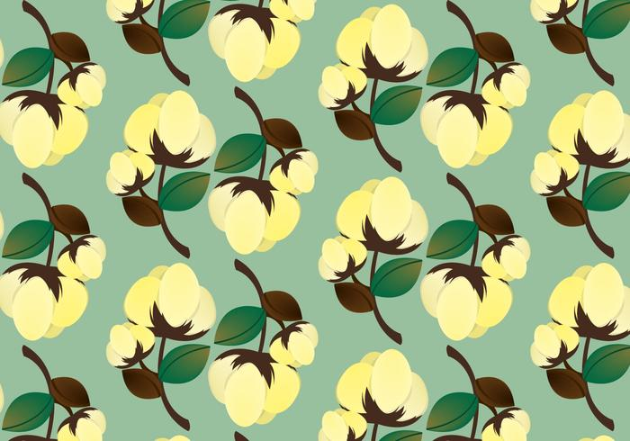 Free Cotton Plant Pattern Vector