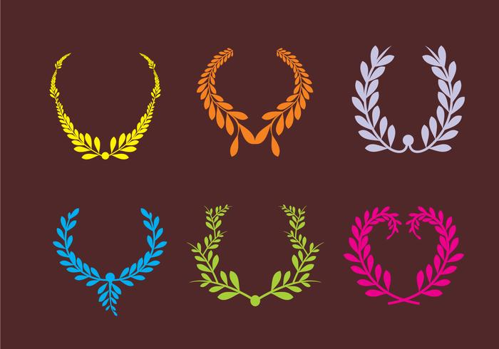 Colorful Olive Wreath Vectors