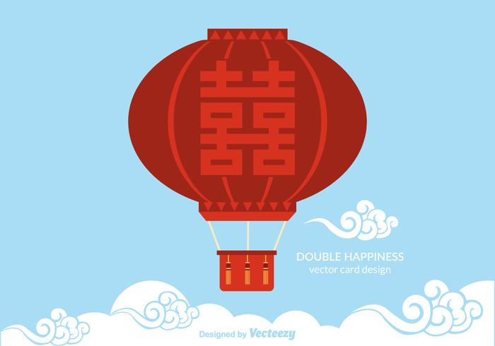 Gratis Double Happiness Balloon Vector