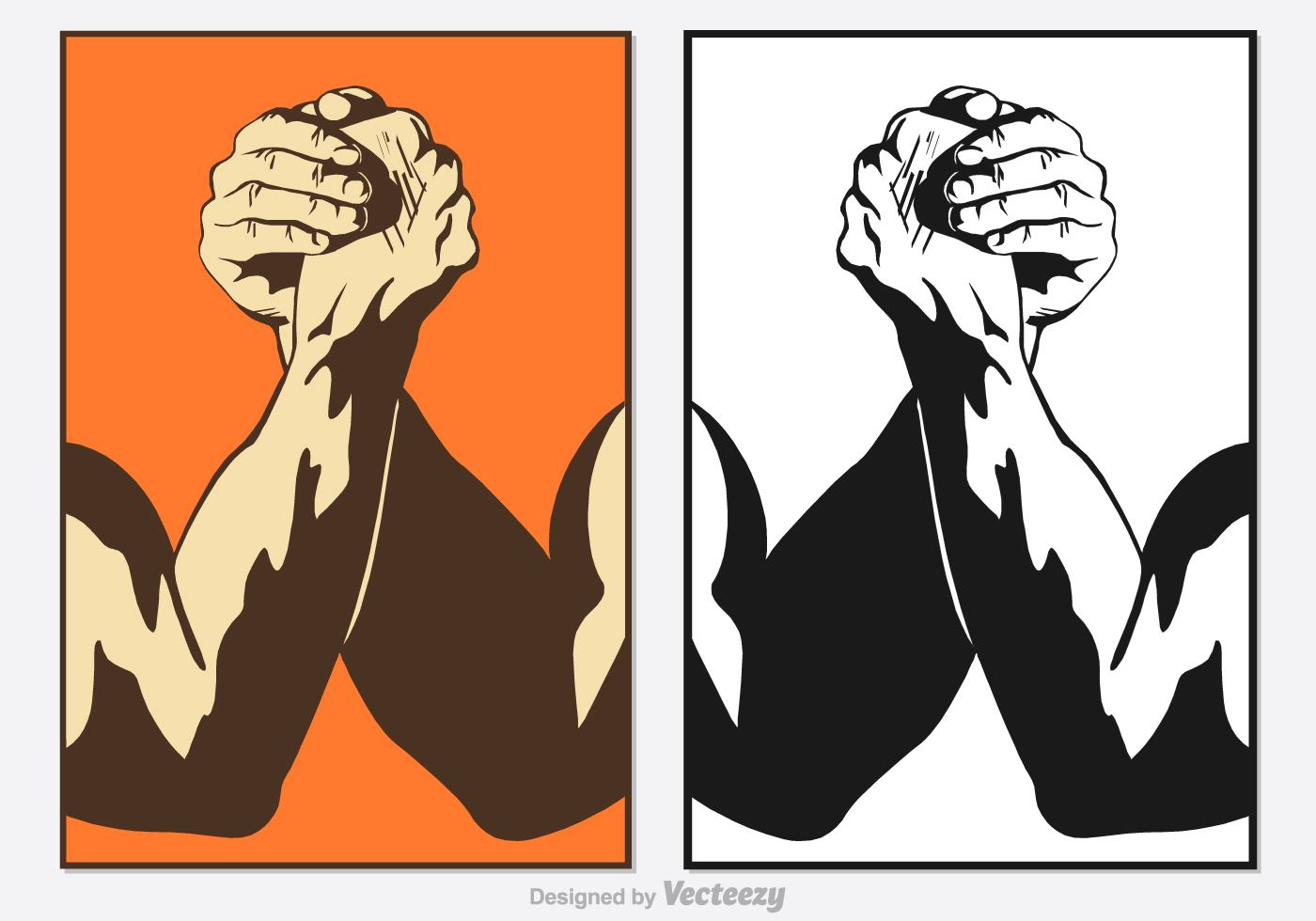 free arm wrestling vector download free vector art