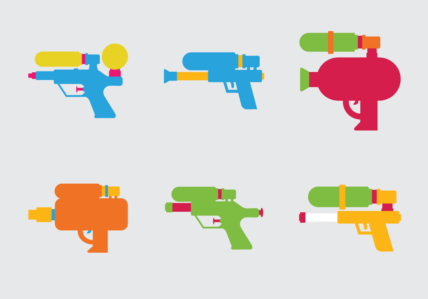 Free Water Gun Vector Illustration - Download Free Vector Art, Stock ...