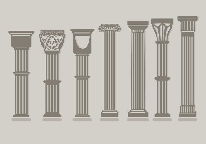 Romeinse pijlervectoren vector