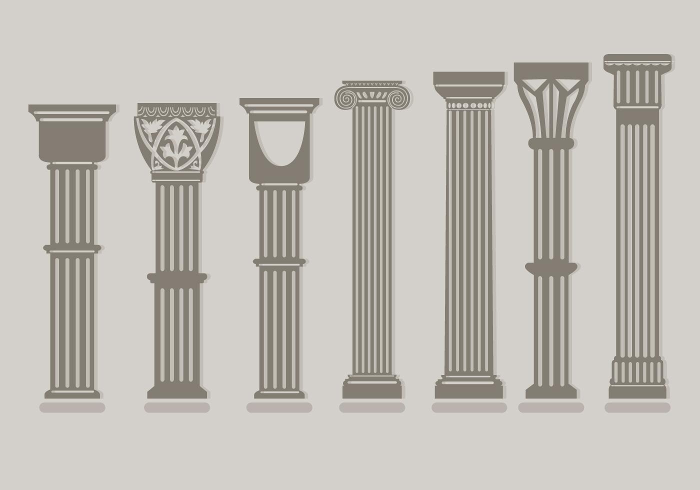 Roman Pillar Vectors Download Free Vector Art Stock