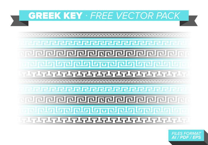 Greek Key Free Vector Pack