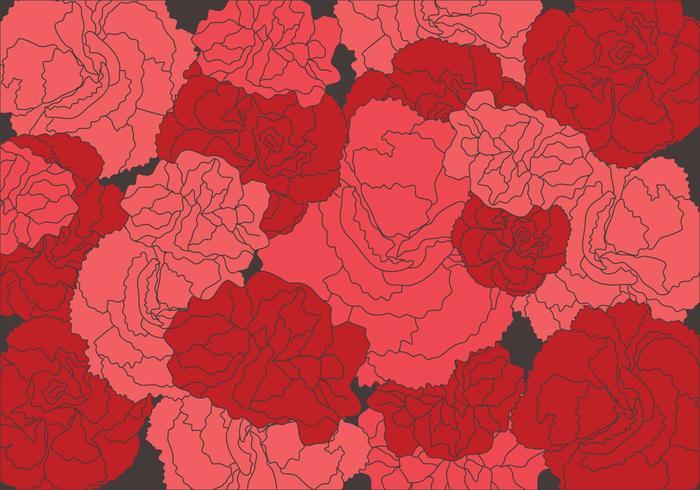 Carnation Pattern Vector