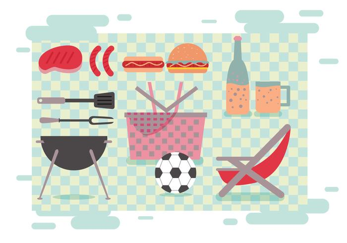 Family Picnic Vectors