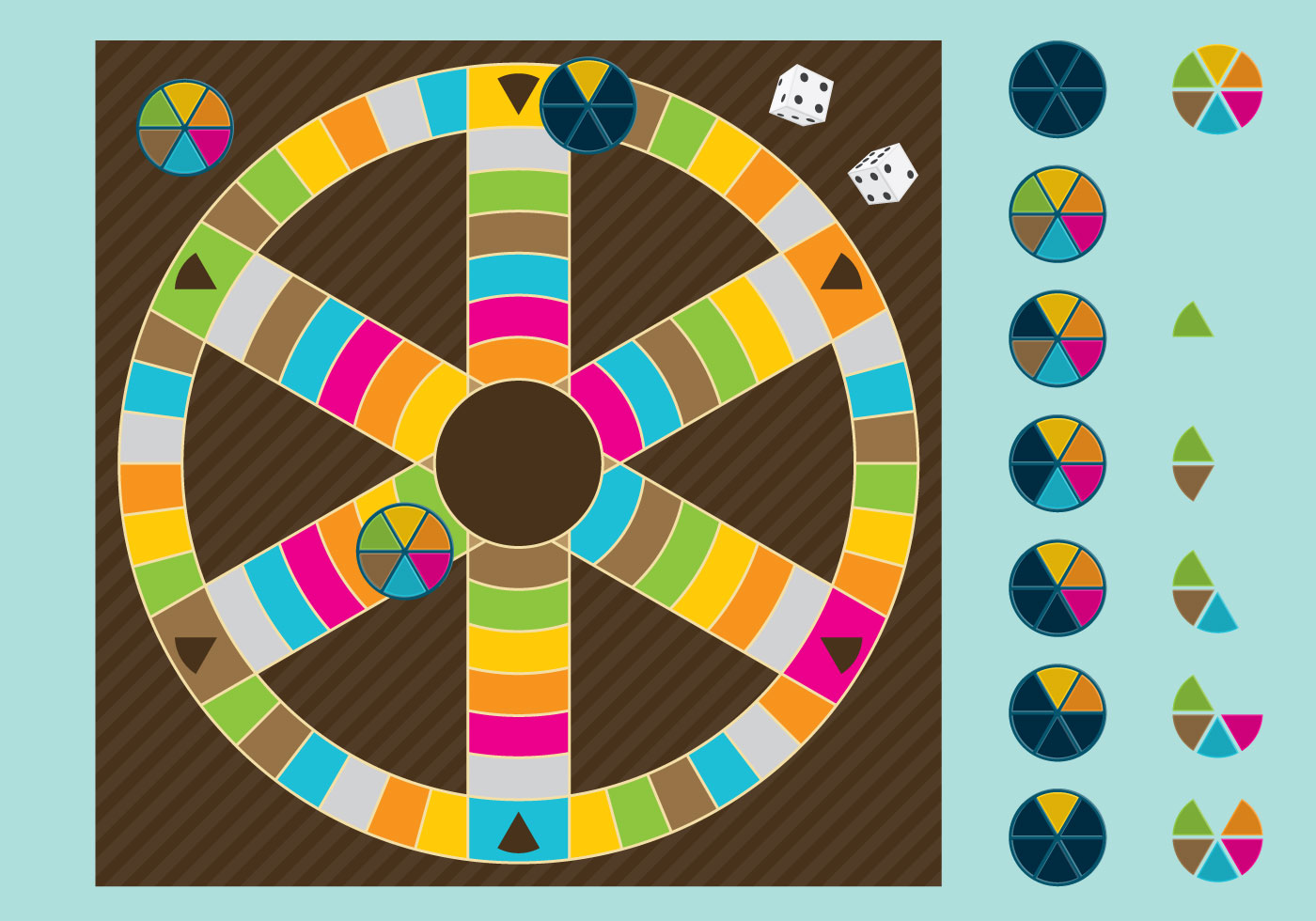 Vector Drawing Lines Games : Trivia board game download free vector art stock