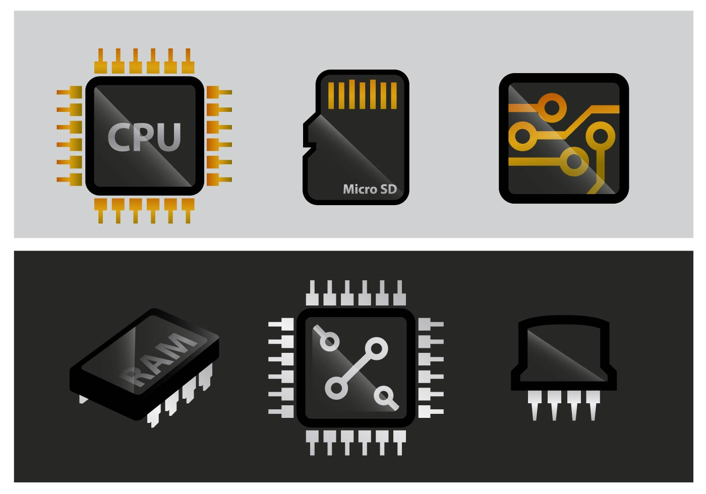 Types Of Ram >> Microchip Vector - Download Free Vector Art, Stock Graphics & Images