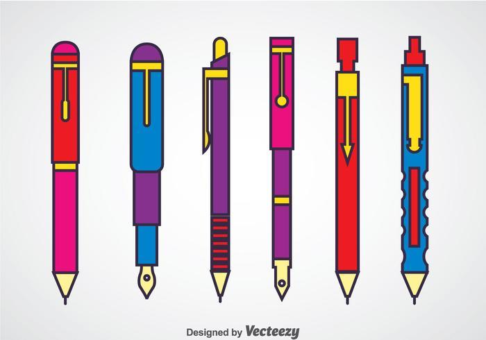 Lápices y lápices mecánicos vector