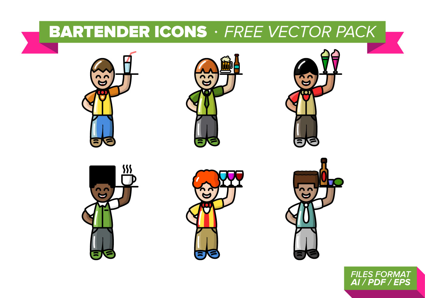 Bartender Icons Free Vector Pack - Download Free Vector ...