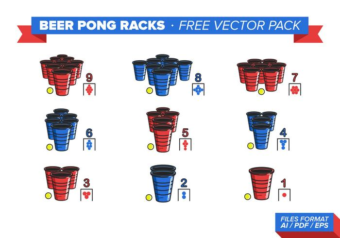 Öl Pong Racks Gratis Vector Pack