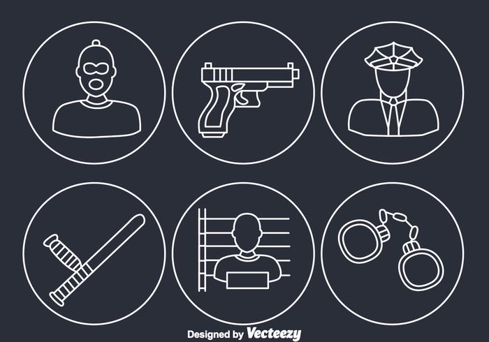 Criminal Element Icons vector
