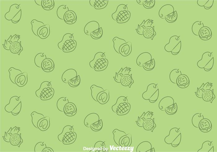 Fruits Green Pattern