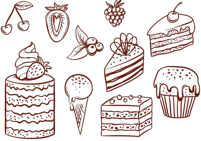 Cake Line Art Vector Free Download : Free Cake Vectors - Download Free Vector Art, Stock ...