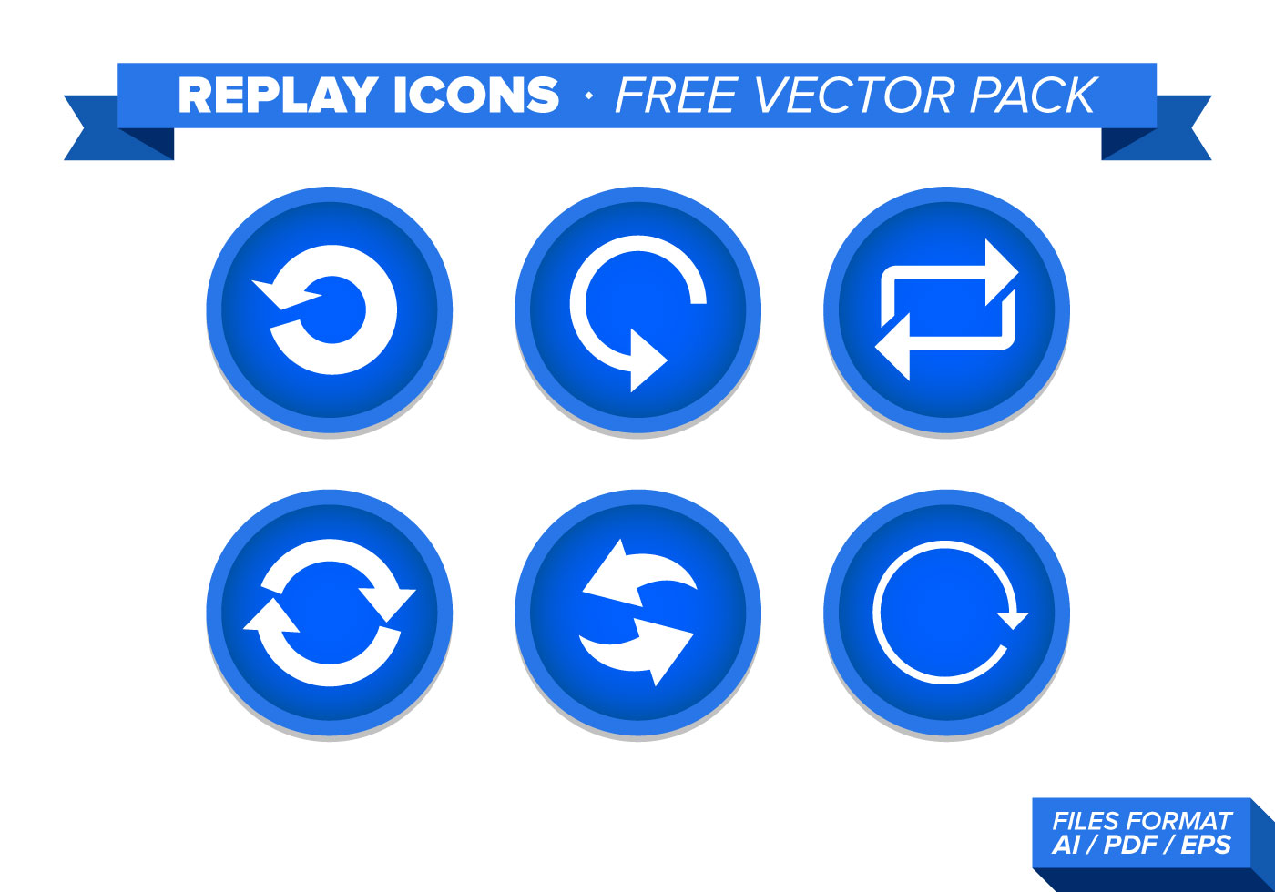 Replay Icons Free Vector Pack - Download Free Vector Art ...