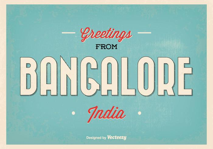 Bangalore Indien hälsning illustration