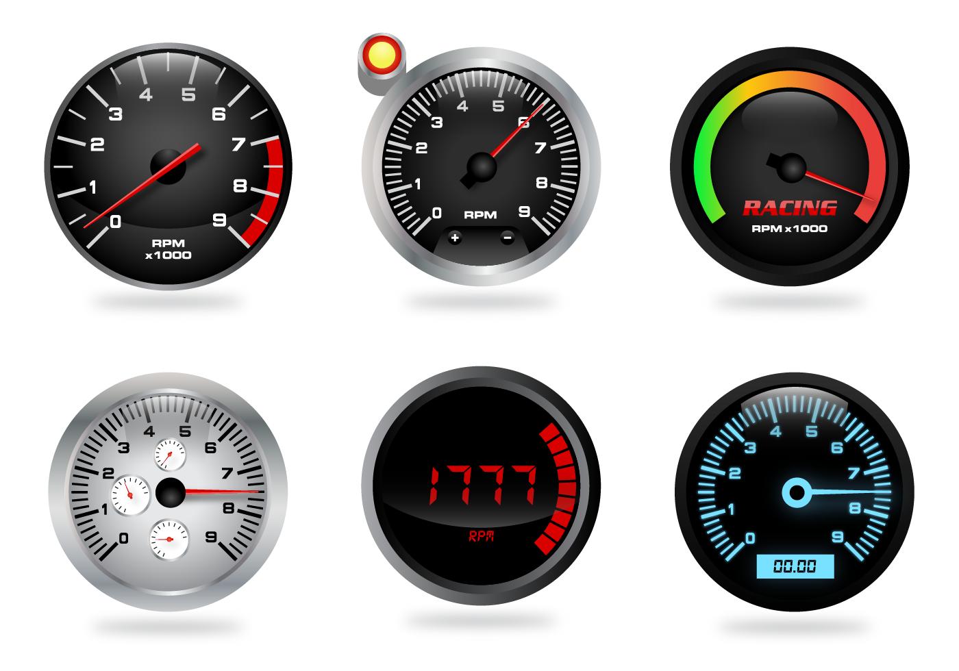 Tachometer Free Vector Art - (10414 Free Downloads) Tachometer Logo