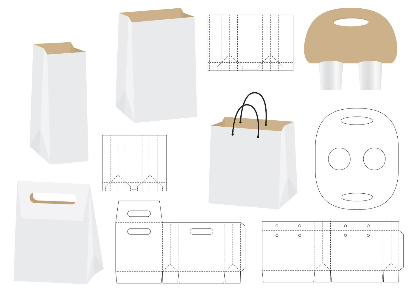 Die Cut Bags Download Free Vector Art Stock Graphics Images