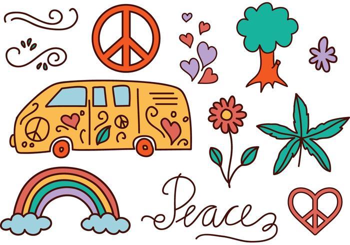 Libre Hippie Vectores