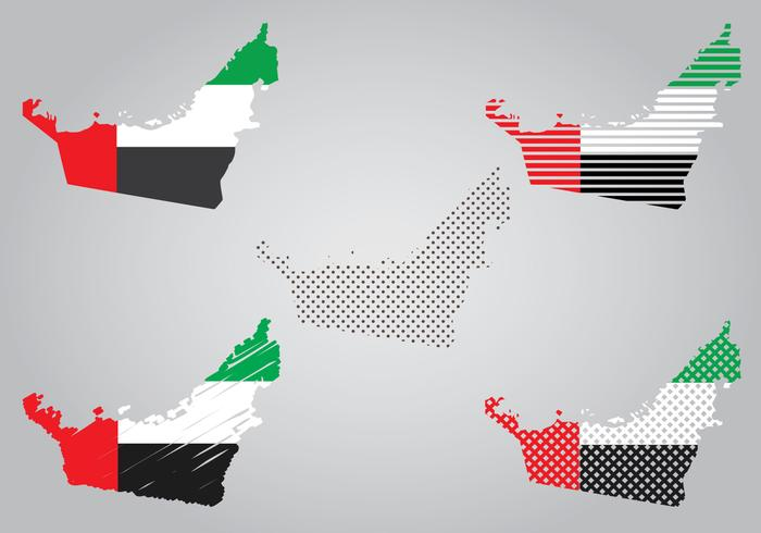 UAE Map and Flag
