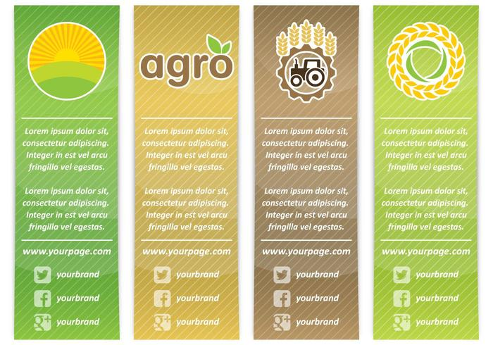Banners Agro Vertical vector