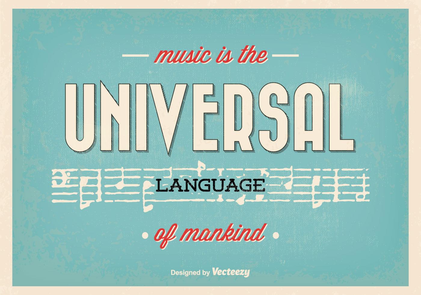 Music Quotes: Typographic Music Quote Poster
