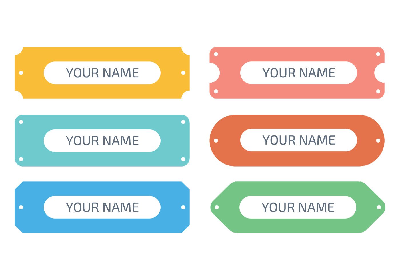 Flat Name Plate Download Free Vector Art Stock Graphics Images
