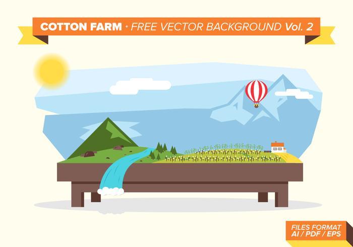 Cotton Farm Free Vector Background Vol. 2